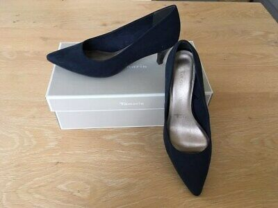 great quality lower price with info for ESCARPINS KITTEN HEEL nubuck bleu marine (navy) TAMARIS 39 ...