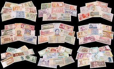World Banknote Collections - Sets of 8 Uncirculated (UNC) Different Countries