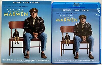 Welcome To Marwen Blu Ray Dvd 2 Disc Set + Slipcover Sleeve Free World Shipping