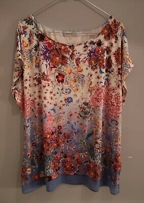Marks and Spencer Blue mix floral tunic. Size 20. Never worn. Tag not attached