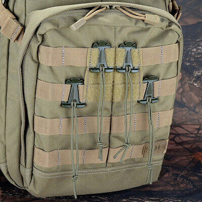Tactical Cord Hang Buckle Clip For Backpack MOLLE Webbing Survival 5PCS/Set