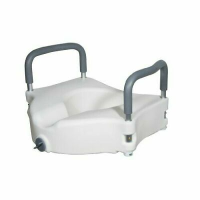 Drive Medical RTL12027RA Elevated Raised Toilet Seat Removable Padded Arms NEW