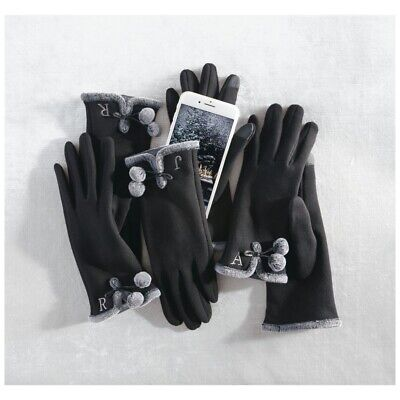 Mud Pie H9 Women Smart Screen Initial Knit Gloves 86020018 Choose Letter