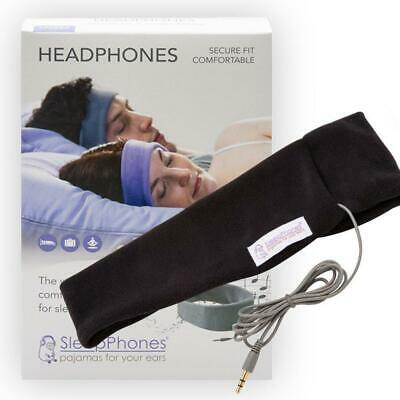 AcousticSheep, LLC SP4BM SleepPhones Classic Sleep Headphones (Black, Medium - O