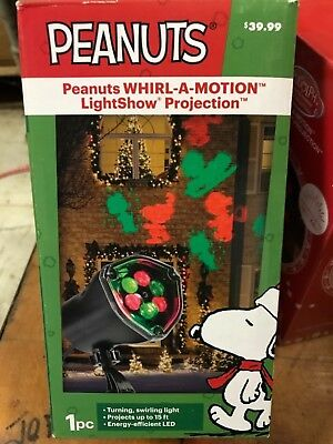 PEANUTS Snoopy Christmas Whril-a-Motion Static Light show PROJECTION Set NEW