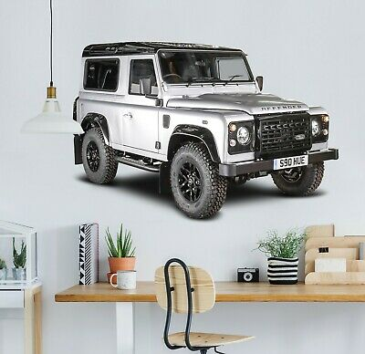 3D Land Rover Defender G81 Car Wallpaper Mural Poster Transport Wall Stickers We