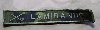 "Used Canadian Army Temperate Cadpat Camo Name Tag  ""Lamirande"""