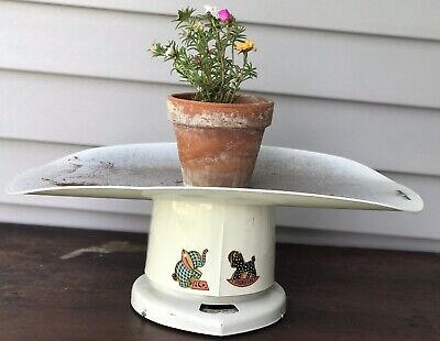 Vintage White Chippy Counselor Baby Scale Works! Farmhouse Decor Nursery Kitchy