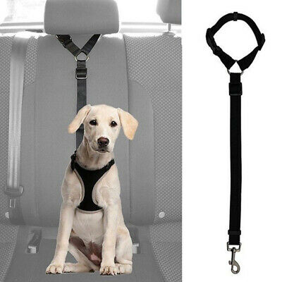 Dog Cat Pet Safety Adjustable Car Seat Belt Harness Leash Travel Clip Strap A7A4