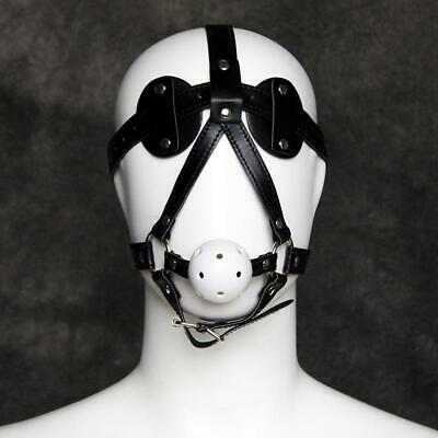 Kunstleder Maske Fuax Leather Blindfold Eyepatch Mask Harness Bondage UA1216