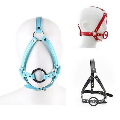3 Color Kunstleder Maske Faux Soft Leather Hood Head Harness Dog Mask Bondage