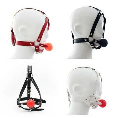 4 Color Kunstleder Maske Faux Soft Leather Hood Head Mask Harness Bondage Kostüm