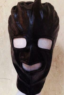 Bondage Maske Latex & Spandex Hood Mask eyes mouth often mask BDSM Kostum  UA84