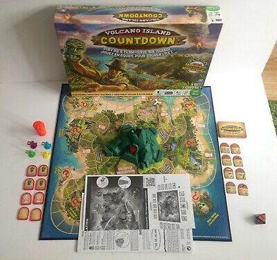 Volcano Island Countdown Electronic Erupting Board Game - Spin Master (complete)