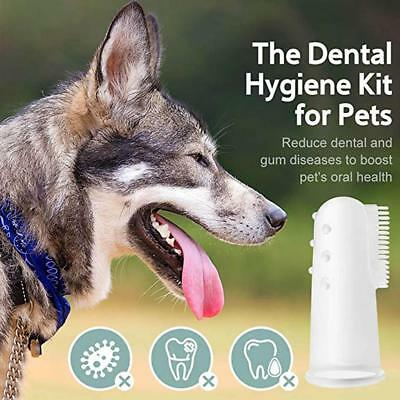 Soft Finger Toothbrush Pet Dog Dental Cleaning Teeth Care Hygiene Brush Cat Warm