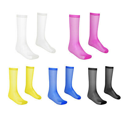 1 Pair Mens Ultra Thin Stockings Long Socks Reinforced Toe High Stretchy Gift