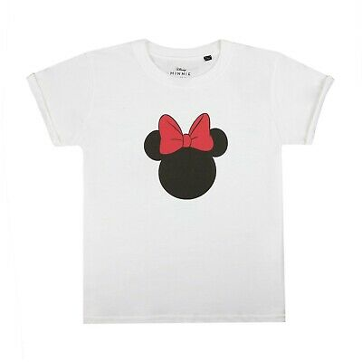 Disney - Minnie Silhouette - Official  - Girls - T-shirt - White