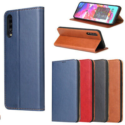 Magnetic Genuine Leather Wallet Flip Card Case For Samsung A20 A30 A40 A50 S20