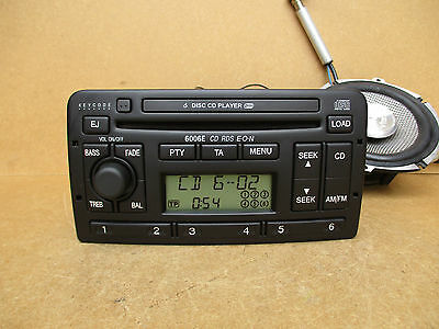 Ford 6006E RDS E-O-N Radio Stereo 6 Disc CD Player Changer + Security CODE