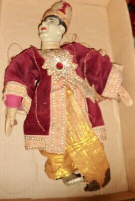 Vintage India / Thai Handmade Marionette String Puppet approx 16 inches