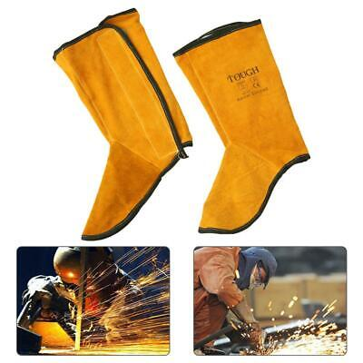 Pure Leather Welding Spats Shoes Heat Resistant Welder Foot Protect Cover