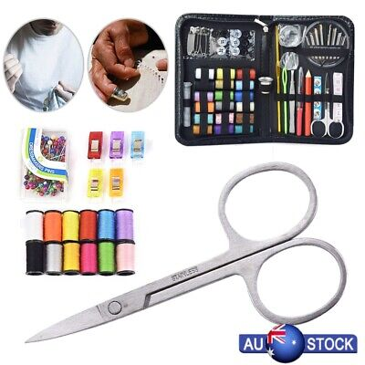 200 Piece Sewing Kit Thread Scissor Tape Pins Thimble Needle Travel Home Durable