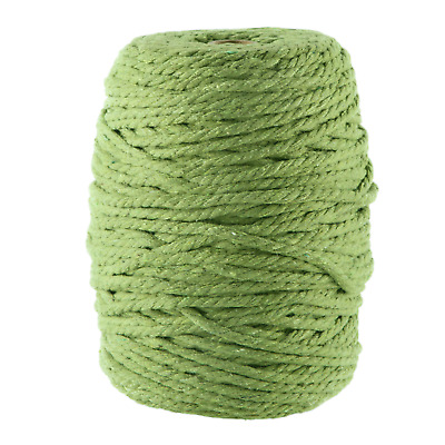 5mm green macrame rope coloured 3 ply cotton cord string twisted yarn australia