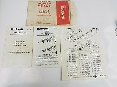 Rockwell Tiger Saw Model 677 6772 Owners And Parts Manual