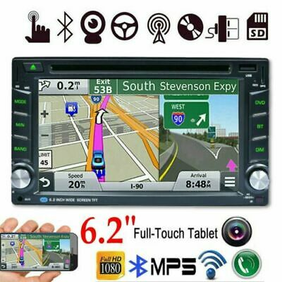 Double 2Din 6.2 In Dash Stereo Car DVD Player Bluetooth Radio iPod Navigation BS