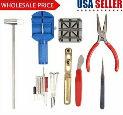 16pc Watch Repair Tool Kit Band Pin Strap Link Remover Back Opener US SHIPPER BT