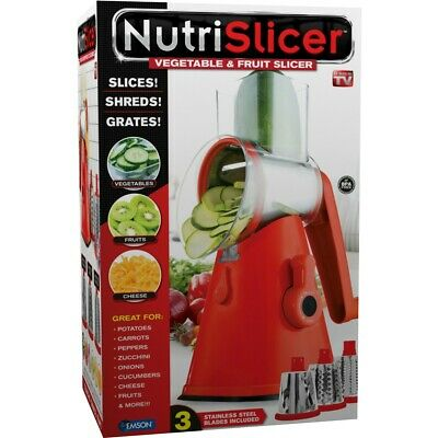 As Seen On TV NutriSlicer Slice, Shred and Grate All-In-One Make Your Meals Easy