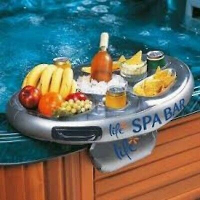 Inflatable Spa Bar - Floating Hot Tub Accessory - Tray/Holder for Drink & Snacks