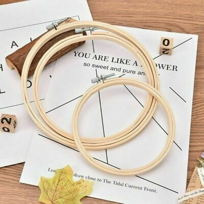 Bamboo Wooden Embroidery Hoop Rings for DIY Cross Stitch Needle Craft Tools
