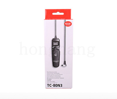 TC-80N3 Timer Release Remote Shutter Switch For CANON 40D 50D 7D 5D Mark II III