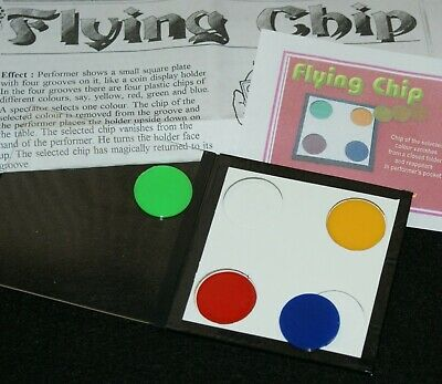 The Flying Chip -- cute, colorful close-up, with a Tenyo-esque feel         TMGS