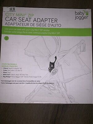 Baby Jogger Car Seat Adapter for Chicco/Peg Perego, Black New In Box