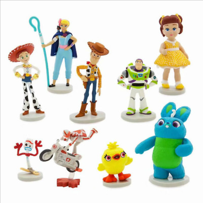 Toy Story 4 Woody Lightyear Rex Alien Forky Buzz Bunny Figure Cake Topper Gifts