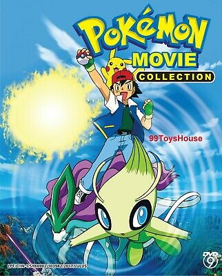 DVD Anime POKEMON Movie Collection 5DVDs Boxset (Movie 1-21) English Dub* & Sub