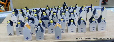 Lot of  KLM Bols Blue Delft Miniature Houses Bottles USED YOU PICK $10 EACH READ