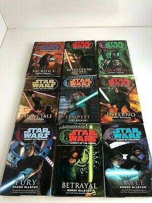 Star Wars Legacy of the Force Complete ALL Hardcover books lot 1-9 Rare