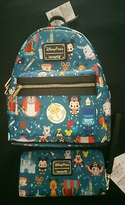 Disney Parks Attractions Mini Backpack and Wallet by Loungefly