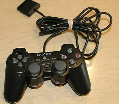 PS2 Controller Sony Genuine Official OEM SCPH-10010 Black Analog Playstation