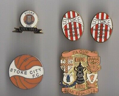 STOKE CITY 1930s re-issued in 1993 Supporters' Club badge Pin Enamel RARE