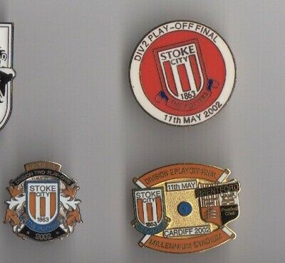 STOKE CITY Bristol City Div2 11 May PlayOffs winners 2002 badge Pin Rare enamel