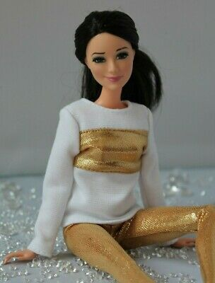 №017 Clothes for Barbie Doll. Blouse and Leggings for Dolls.