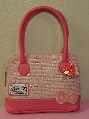 937f855e0 EIKOH Sanrio Hello Kitty Twill Purse - Pink - Imported from Japan