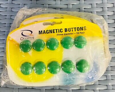NEW 5 x PACKETS (50 pc) QUARTET MAGNETIC BUTTONS GREEN