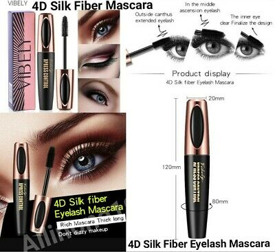 Waterproof Magic 4D Silk Fiber Eyelash Mascara Extension Long Lasting Eye Lashes
