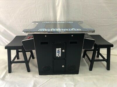 Arcade cocktail with 412 game in 1-TRACK BALL  -Free  Shipping -Free Stools