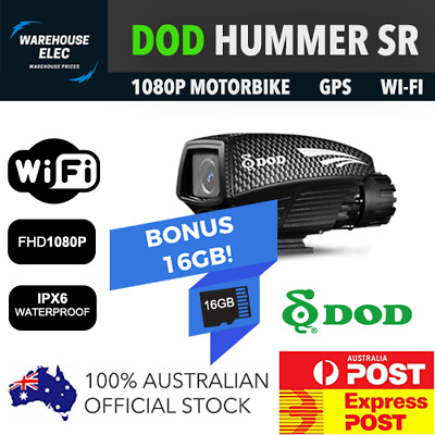 Dod Hummer Motor Bike Dashcam + 16Gb Card Included